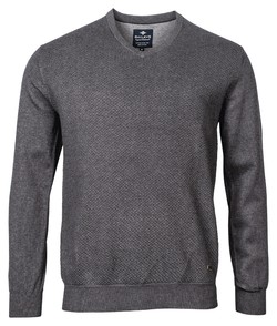 Baileys V-Neck Pullover Structure Plated Pullover Anthracite