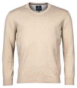 Baileys V-Neck Pullover Trui Beige