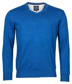 Baileys V-Neck Pullover Trui Bright Blue