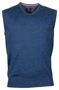 Baileys Wool Cotton Spencer V-Neck Slip-Over Blue