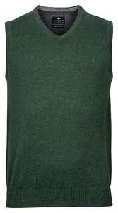 Baileys Wool Cotton Spencer V-Neck Slip-Over Green