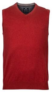 Baileys Wool Cotton Spencer V-Neck Slip-Over Light Bordeaux