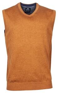 Baileys Wool Cotton Spencer V-Neck Slip-Over Light Brown