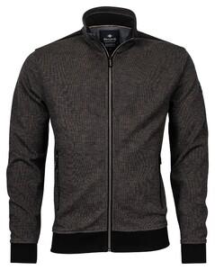 Baileys Zip 2-Tone Jacquard Interlock Vest Khaki