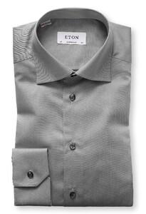 Eton Uni Cutaway Signature Twill Midden Grijs