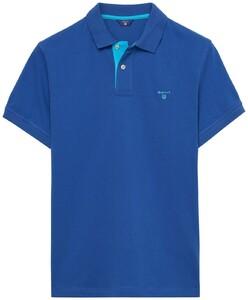 Gant Contrast Collar Pique Yale Blue