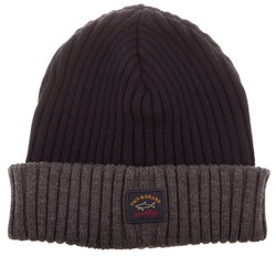 Paul & Shark Bretagne Two-Tone Knitted Cap Navy-Antraciet