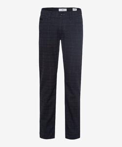 Brax Cadiz C Check Pants Navy
