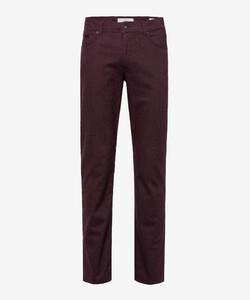 Brax Cooper C Wool Look Pants Aubergine