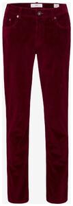 Brax Cooper Corduroy Corduroy Trouser Red Melange