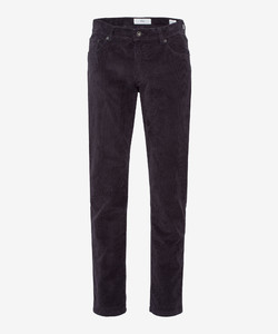 Brax Cooper Fancy Cotton Rib Corduroy Trouser Anthracite Grey