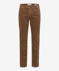Brax Cooper Fancy Cotton Rib Corduroy Trouser Beige
