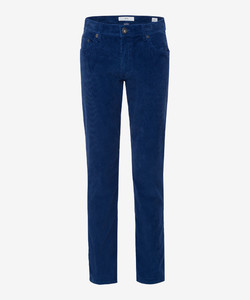 Brax Cooper Fancy Cotton Rib Corduroy Trouser Blue