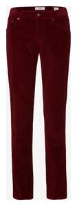 Brax Cooper Fancy Cotton Rib Corduroy Trouser Maroon