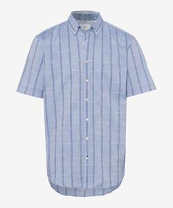 Brax Dan Large Check Overhemd Blauw