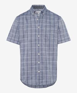 Brax Dan Large Check Overhemd Navy