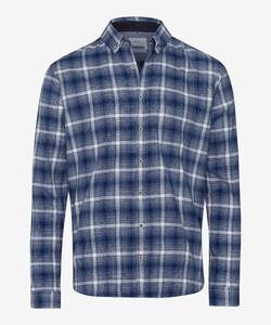Brax Daniel Button Down Check Overhemd Navy