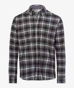 Brax Daniel Button Down Check Shirt Black
