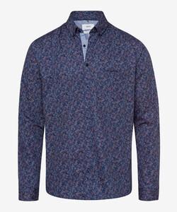 Brax Daniel Button Down Floral Overhemd Donker Blauw