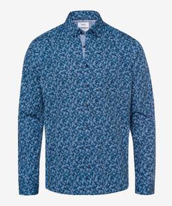 Brax Daniel Button Down Floral Shirt Blue