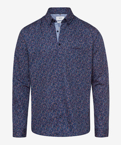 Brax Daniel Button Down Floral Shirt Dark Evening Blue