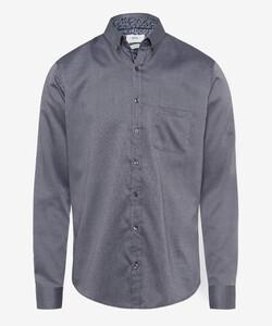 Brax Daniel Button Down Overhemd Grijs