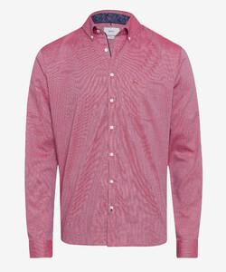 Brax Daniel Button Down Uni Overhemd Rood