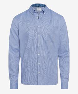 Brax Daniel Button Down Uni Shirt Blue