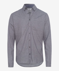 Brax Daniel Fine Fantasy Circle Dot Shirt Grey