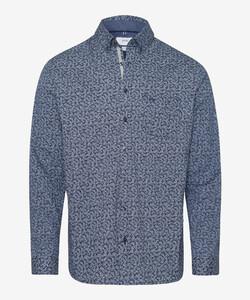 Brax Daniel Hi-Flex Minimal Fantasy Overhemd Blauw