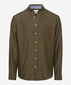 Brax Dirk Linen Shirt Khaki
