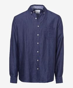 Brax Dirk Linen Shirt Navy