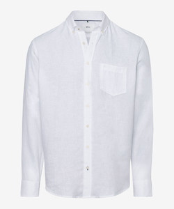 Brax Dirk Linen Shirt White