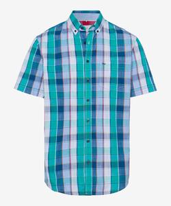 Brax Drake Button Down Check Overhemd Groen