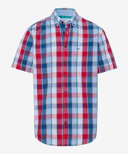 Brax Drake Button Down Check Overhemd Rood