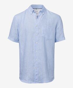 Brax Drake Button Down Summertime Overhemd Blauw