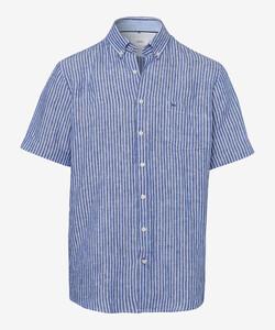 Brax Drake Button Down Summertime Overhemd Navy