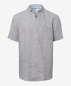 Brax Drake Button Down Summertime Shirt Khaki