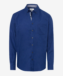 Brax Dries Button Down Overhemd Blauw