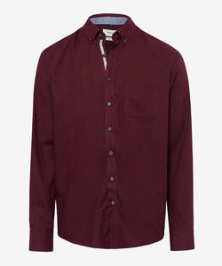 Brax Dries Button Down Overhemd Bordeaux