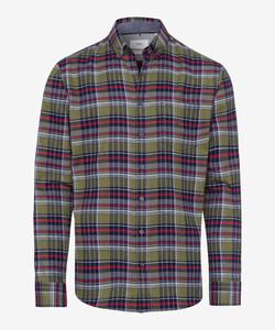 Brax Dries Check Button Down Overhemd Groen
