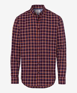 Brax Dries Check Button Down Shirt Fine Orange