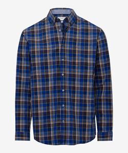 Brax Dries Check Overhemd Bruin