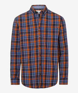 Brax Dries Check Overhemd Oranje