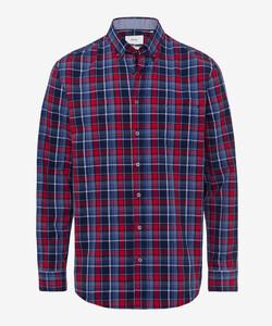 Brax Dries Check Overhemd Summer Red