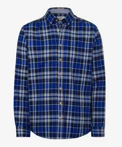 Brax Dries Cosy Light Flanel Overhemd Blauw