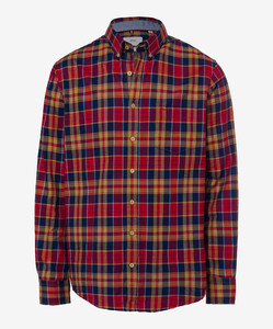 Brax Dries Cosy Light Flanel Overhemd Rood