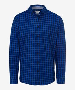 Brax Dries Overhemd Blauw