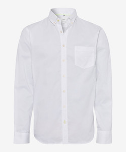 Brax Dries Oxford Button Down Overhemd Wit