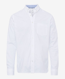 Brax Dries Uni Cotton Fine Oxford Overhemd Wit